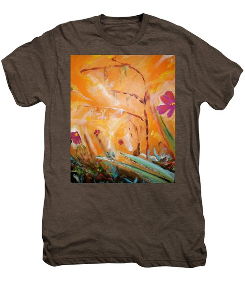 Men's Premium T-Shirt featuring the painting Garden Moment by Winsome Gunning
