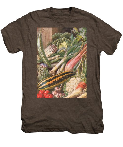 Garden Vegetables Men's Premium T-Shirt by Louis Fairfax Muckley