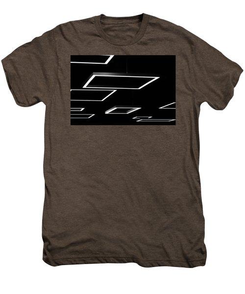 Geometric Light Fixtures At Waukesha State Bank Men's Premium T-Shirt