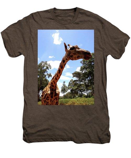 Giraffe Getting Personal 3 Men's Premium T-Shirt
