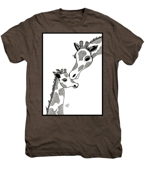 Giraffe Mom And Baby Men's Premium T-Shirt