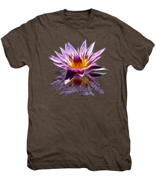 Glowing Lilly Flower Men's Premium T-Shirt