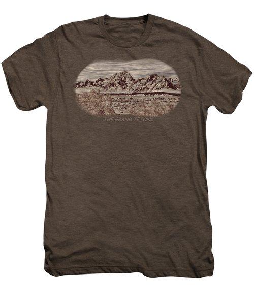 Grand Tetons Woodburning 2 Men's Premium T-Shirt