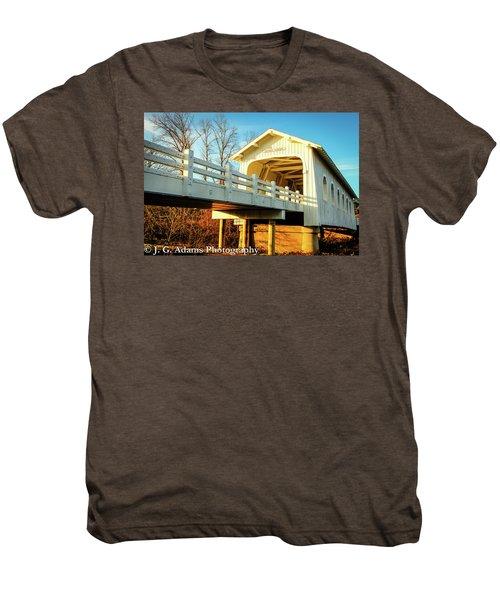 Grave Creek Covered Bridge Men's Premium T-Shirt