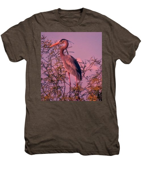 Great Blue Heron - Artistic 6 Men's Premium T-Shirt