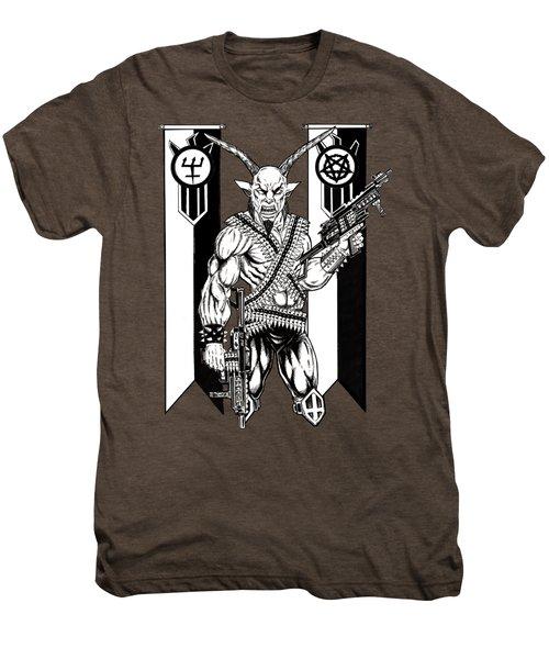 Great Goat War Men's Premium T-Shirt by Alaric Barca