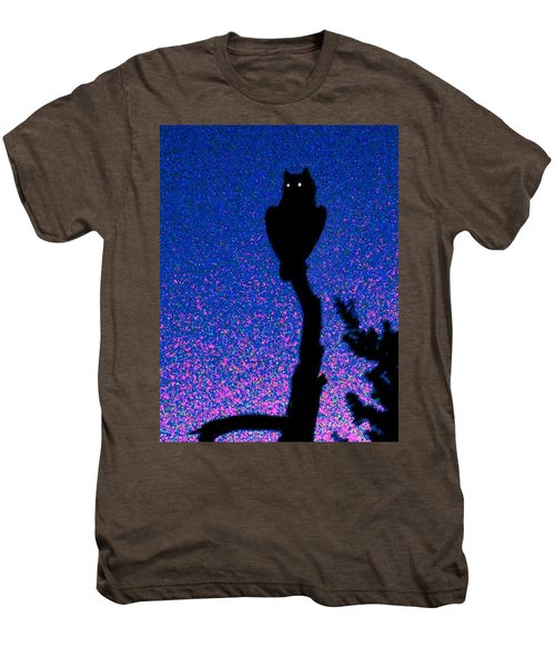 Great Horned Owl In The Desert Men's Premium T-Shirt