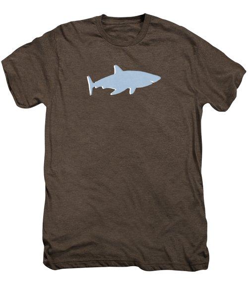 Grey And Yellow Shark Men's Premium T-Shirt