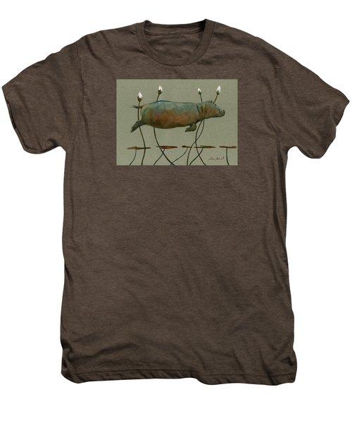 Happy Hippo Swimming Men's Premium T-Shirt