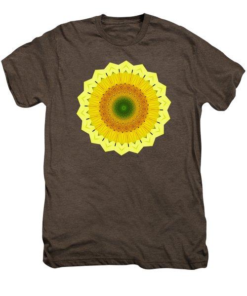 Happy Sunflower Mandala By Kaye Menner Men's Premium T-Shirt