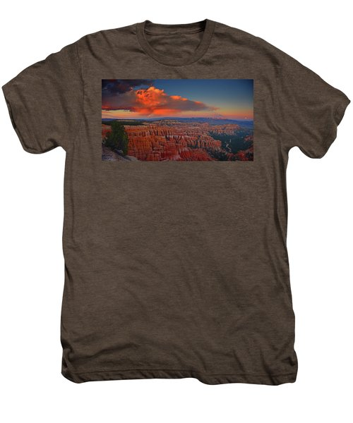 Harvest Moon Over Bryce National Park Men's Premium T-Shirt