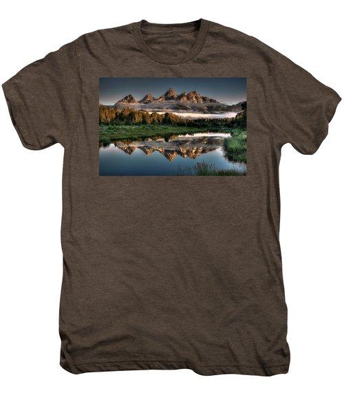 Hazy Reflections At Scwabacher Landing Men's Premium T-Shirt