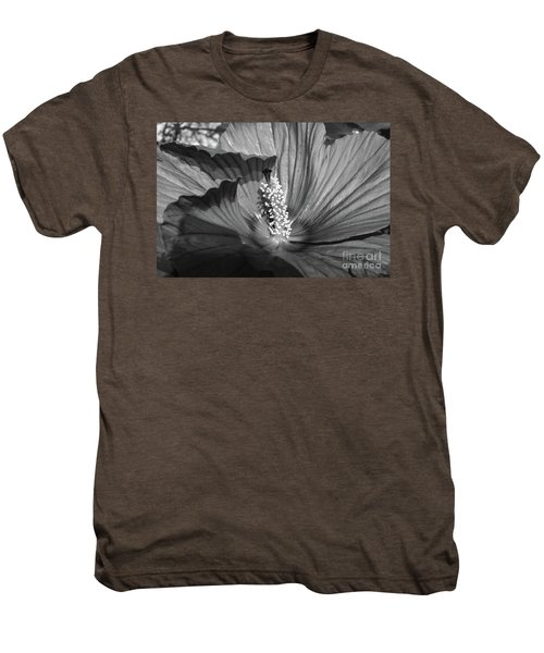 Hibiscus Black And White Men's Premium T-Shirt