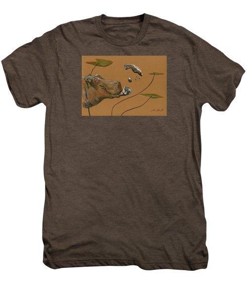 Hippo Bubbles Men's Premium T-Shirt