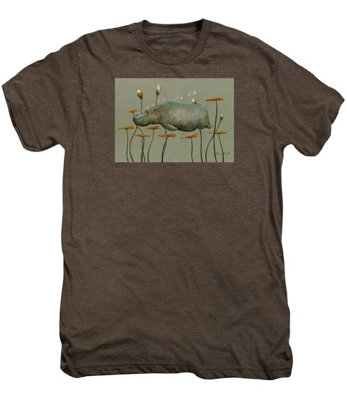 Hippo Underwater Men's Premium T-Shirt by Juan  Bosco