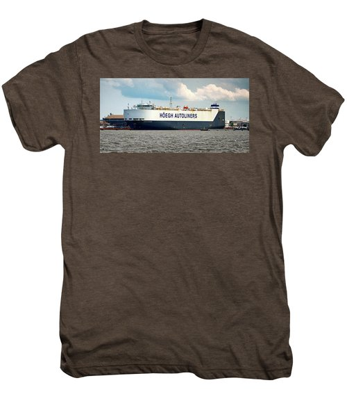 Men's Premium T-Shirt featuring the photograph Hoegh Autoliners Heogh Maputo 9431850 At Curtis Bay by Bill Swartwout Fine Art Photography