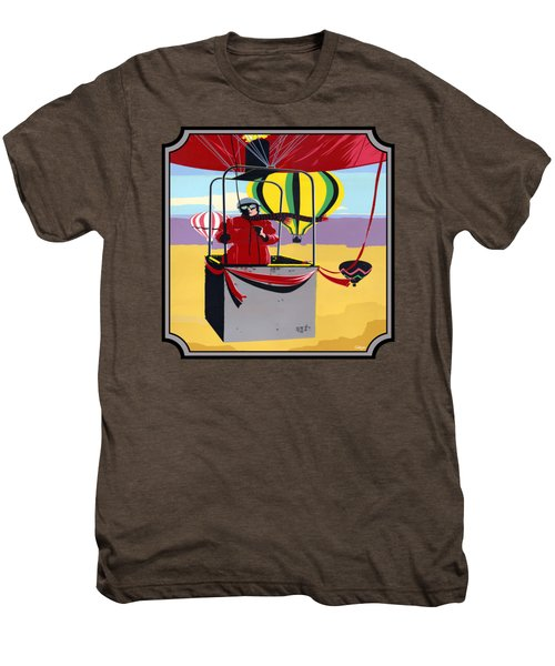 Hot Air Ballooning - Abstract - Pop Art -  Square Format Men's Premium T-Shirt