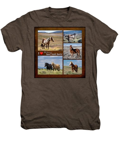 I Love Wild Horses Of Sand Wash Basin Men's Premium T-Shirt