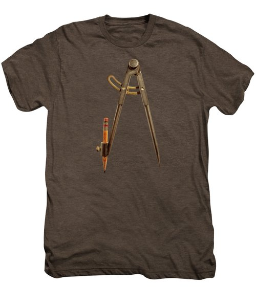 Iron Compass Back Split Color Paper Men's Premium T-Shirt