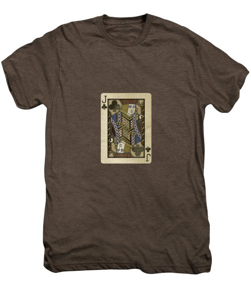 Jack Of Clubs In Wood Men's Premium T-Shirt