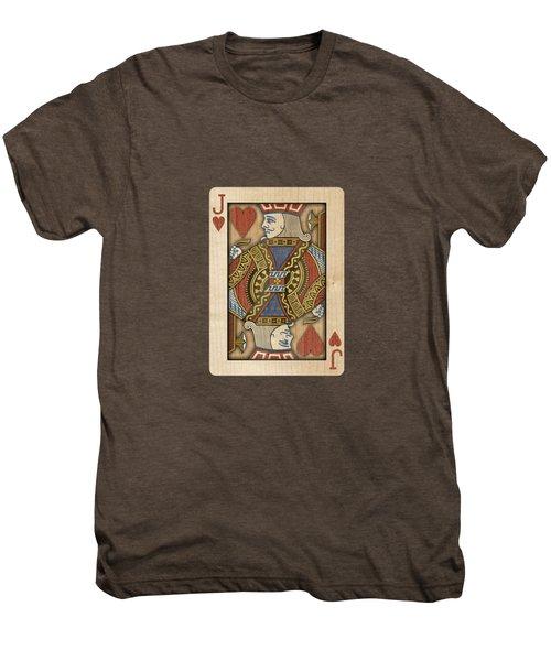 Jack Of Hearts In Wood Men's Premium T-Shirt