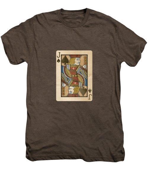 Jack Of Spades In Wood Men's Premium T-Shirt