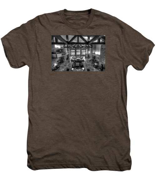 Jackson Lake Lodge Grand Tetons B W Men's Premium T-Shirt
