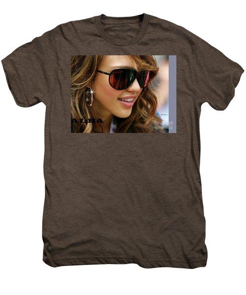 Jessica Alba, Cool Shades Men's Premium T-Shirt