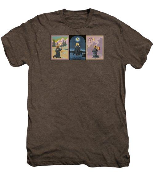 Jesuit Triptych-st Peter Faber-st Ignatius-st Francis Xavier Men's Premium T-Shirt