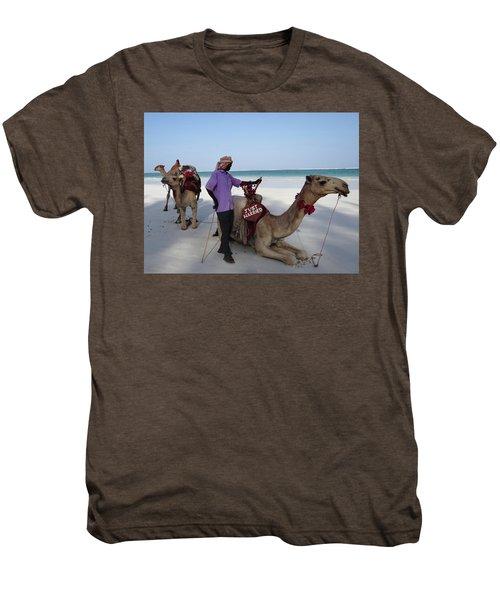Just Married Camels Kenya Beach 2 Men's Premium T-Shirt
