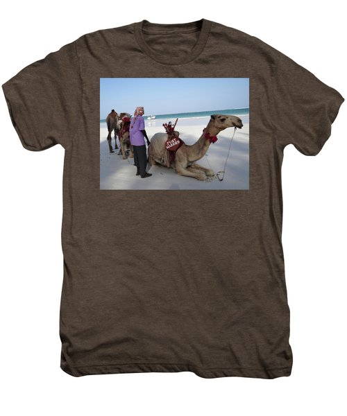 Just Married Camels Kenya Beach Men's Premium T-Shirt