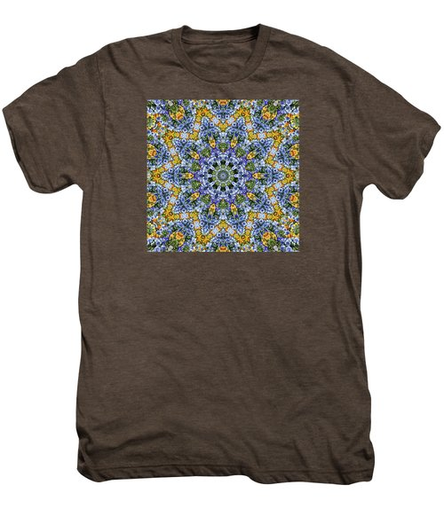 Kaleidoscope - Blue And Yellow Men's Premium T-Shirt
