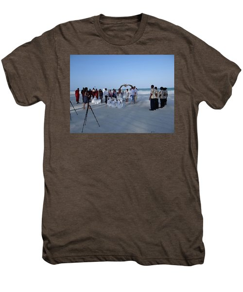 Kenya Wedding On Beach 2 With Maasai Men's Premium T-Shirt