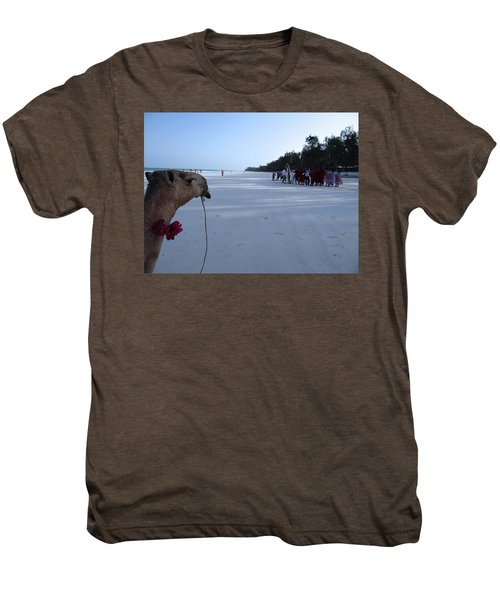 Kenya Wedding On Beach Distance Men's Premium T-Shirt