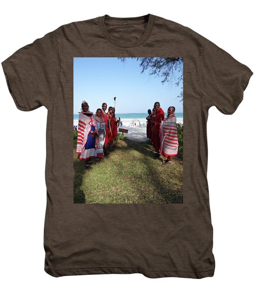 Kenya Wedding On Beach Maasai Bridal Welcome Men's Premium T-Shirt