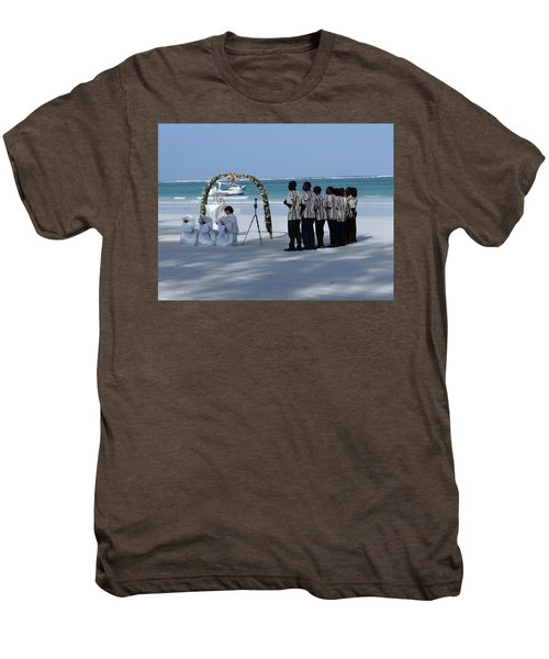 Kenya Wedding On Beach Singers Men's Premium T-Shirt