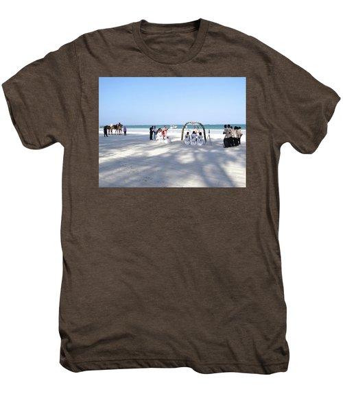Kenya Wedding On Beach Wide Scene Men's Premium T-Shirt