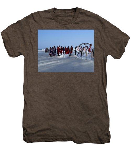 Kenya Wedding On Beach With Maasai Men's Premium T-Shirt