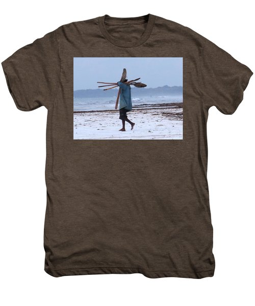 Kenyan Fisherman And Oars Men's Premium T-Shirt