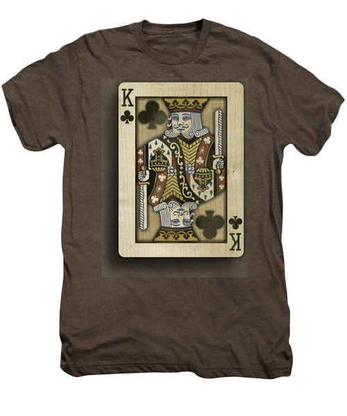 King Of Clubs In Wood Men's Premium T-Shirt