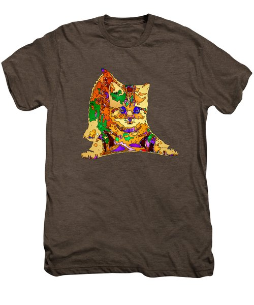 Kitty Love. Pet Series Men's Premium T-Shirt