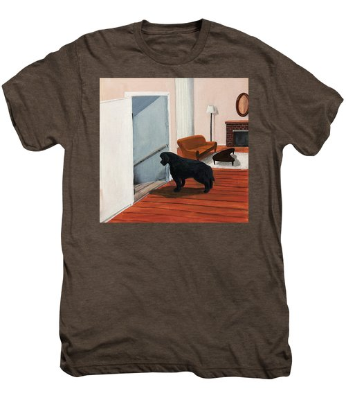 Lady Stares Down The Big Stairs Men's Premium T-Shirt