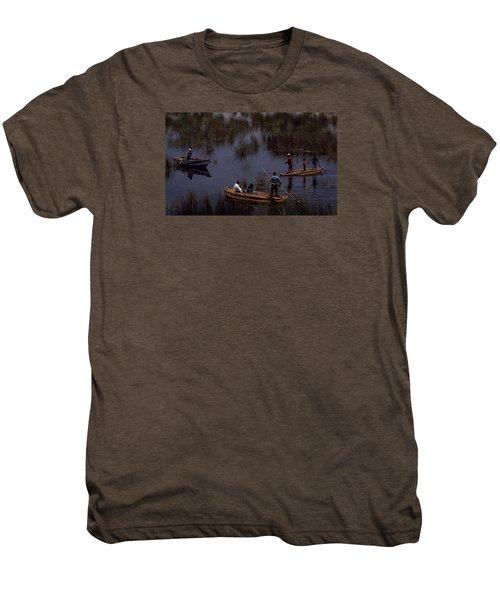 Lake Titicaca Reed Boats Men's Premium T-Shirt
