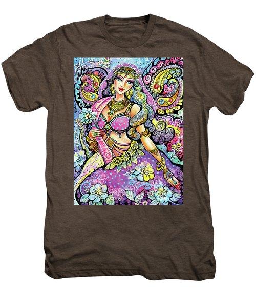 Purple Paisley Flower  Men's Premium T-Shirt