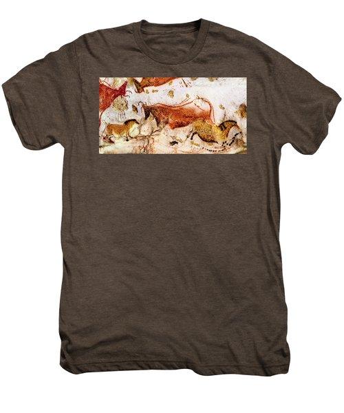 Lascaux Cow And Horses Men's Premium T-Shirt