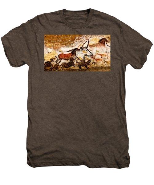 Lascaux Hall Of The Bulls - Horses And Aurochs Men's Premium T-Shirt