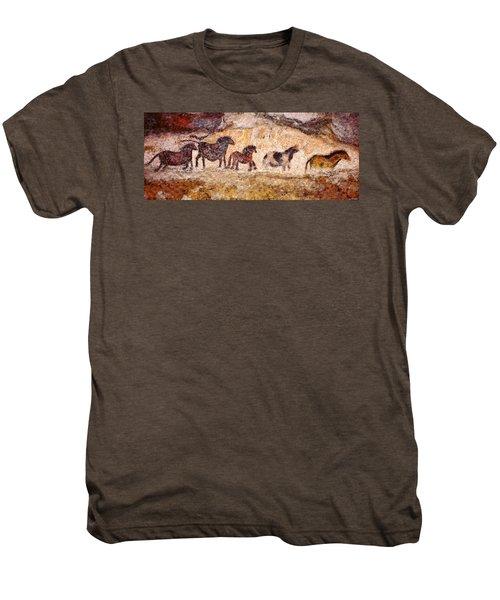 Lascaux Horses Men's Premium T-Shirt