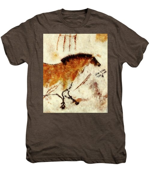 Lascaux Prehistoric Horse Detail Men's Premium T-Shirt
