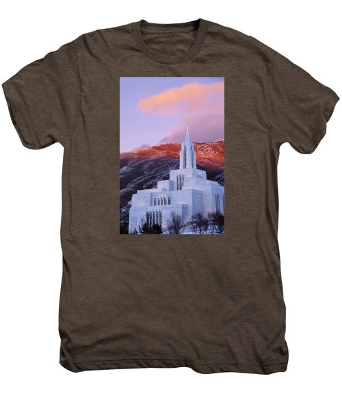 Last Light At Draper Temple Men's Premium T-Shirt