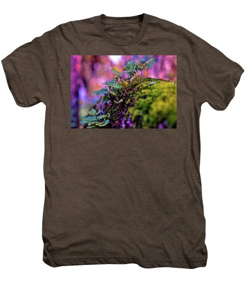 Leaves On A Log Men's Premium T-Shirt